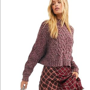NEW FREE PEOPLE / MERRY GO ROUND COTTON SWEATER